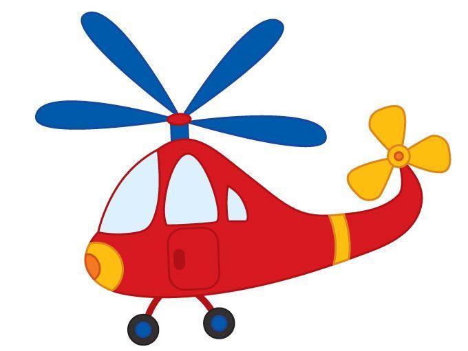 Helicopter clipart. Digital vector boys transport