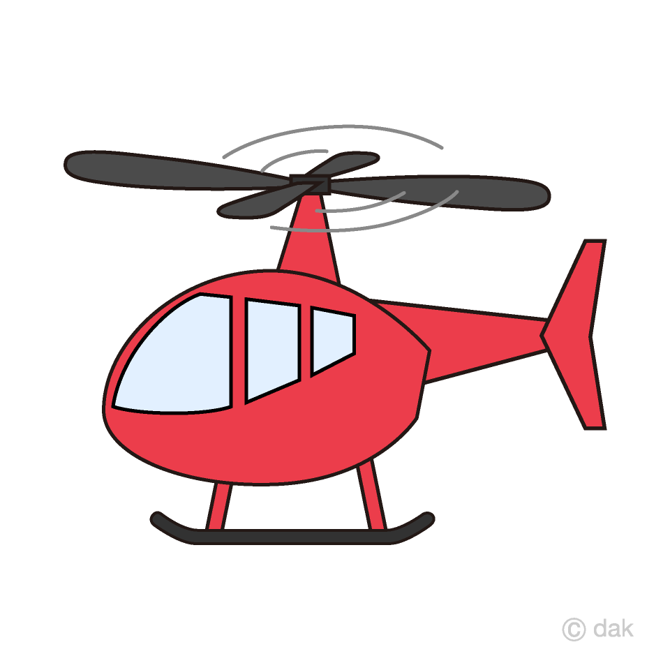 Red free picture illustoon. Helicopter clipart