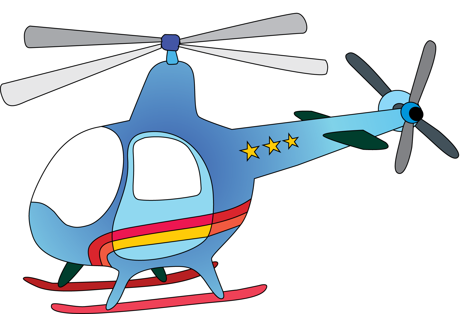 Panda free images. Helicopter clipart