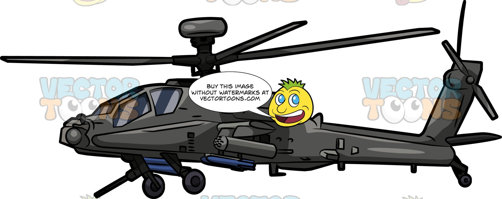 Helicopter clipart apache. A boeing ah