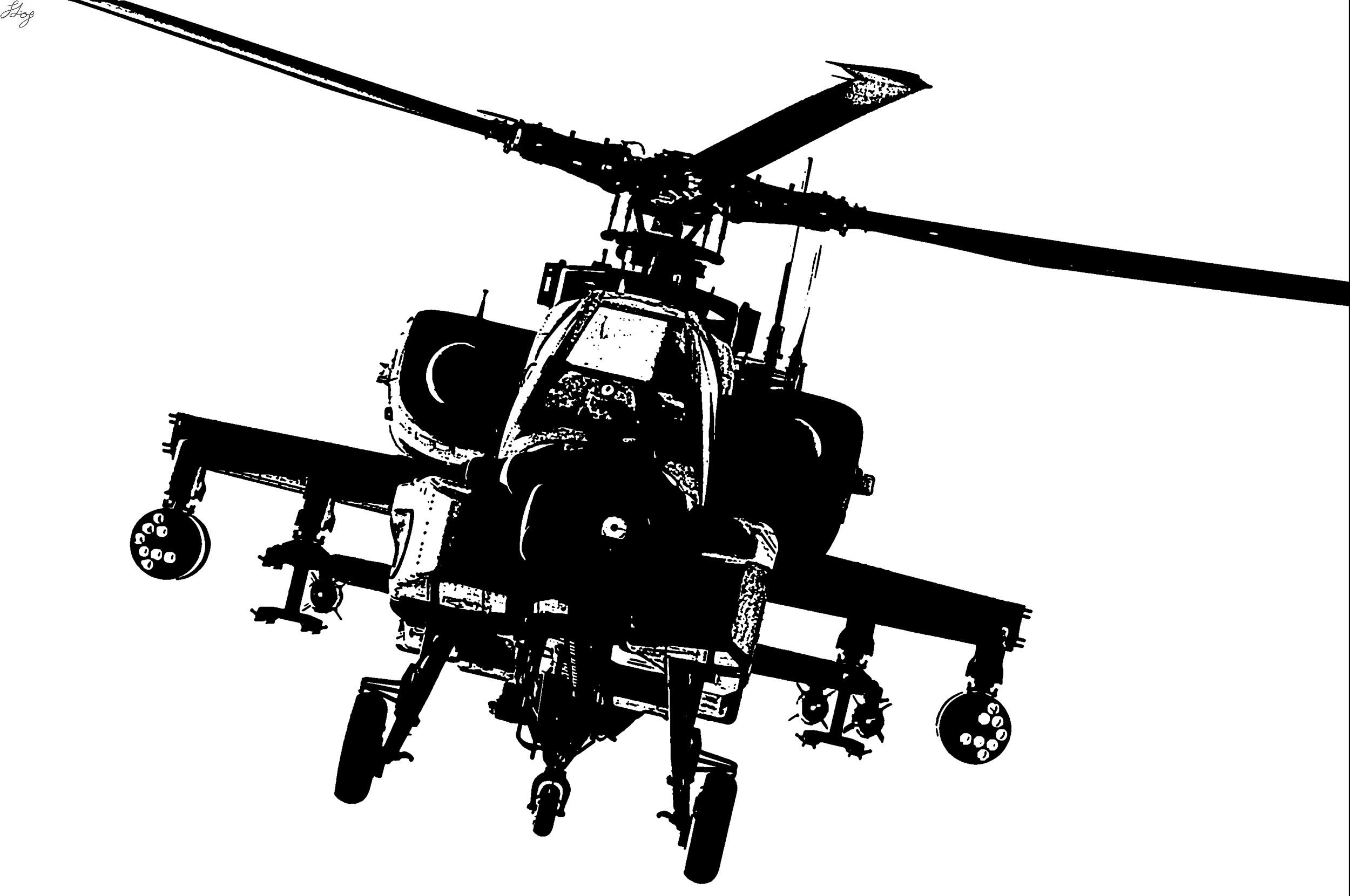 Helicopter clipart attack helicopter. Pin on beachwood mural