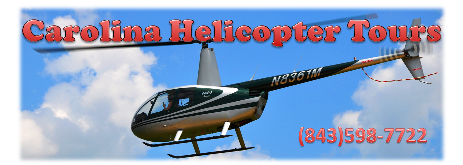 Carolina tours . Helicopter clipart banner