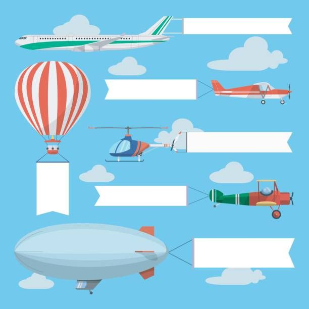 Helicopter clipart banner.  flying planes and