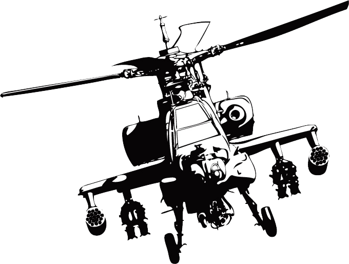 Helicopter clipart border. Boeing ah apache clip