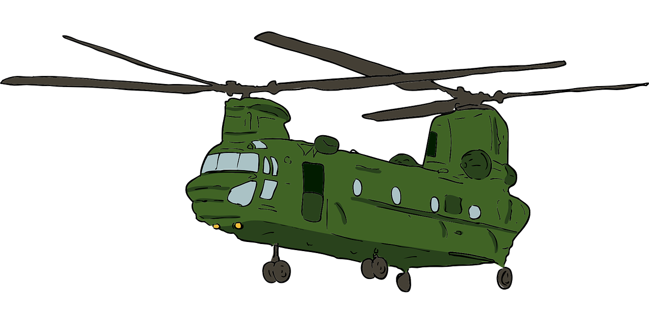 Helicopter clipart chinook. Boeing ch j clip