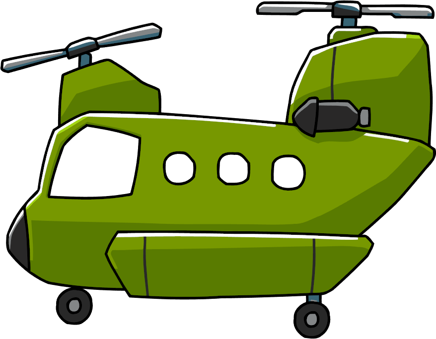 Helicopter clipart chinook. Tandem rotor scribblenauts wiki