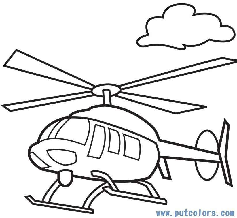 Coloring pages panda free. Helicopter clipart color
