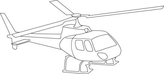 Helicopter clipart color. Coloring page free clip