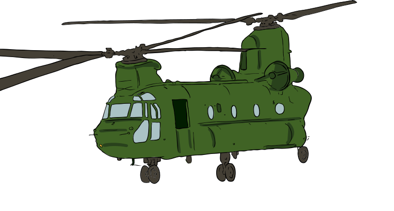 Helicopter clipart color. Chinook medium image png