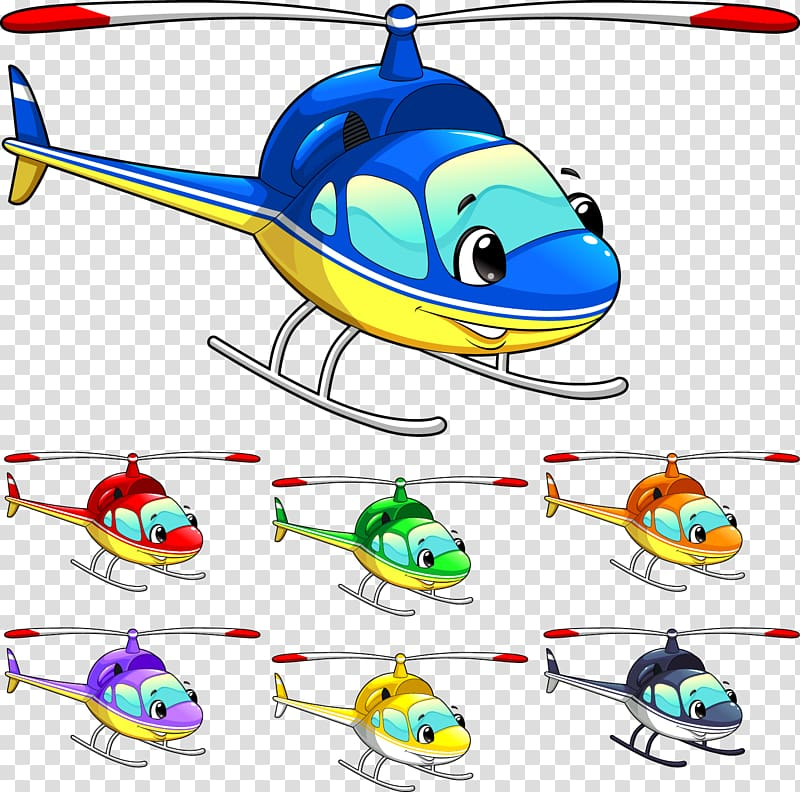 Airplane aircraft cartoon . Helicopter clipart comic book
