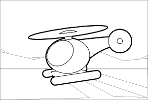 Clip art at clker. Helicopter clipart easy