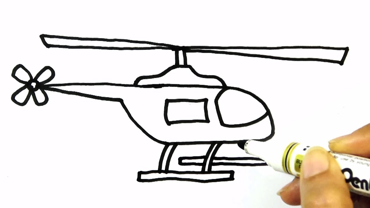 Helicopter clipart easy drawing. Pictures free download best