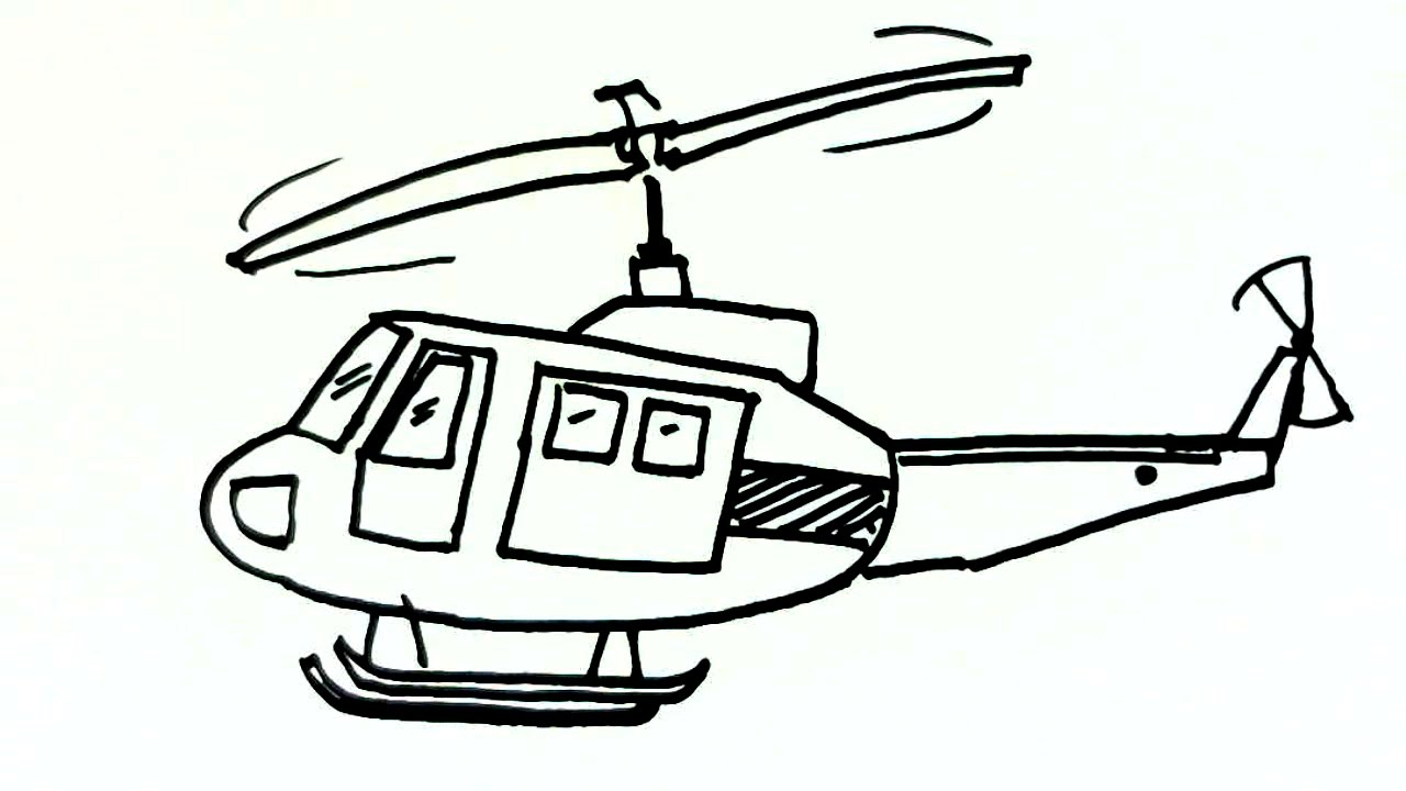 Helicopter clipart easy drawing. How to draw a