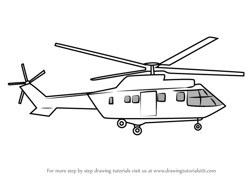 Helicopter clipart easy drawing. Cartoon sketch