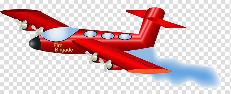 Cartoon airplane transparent . Helicopter clipart firefighter