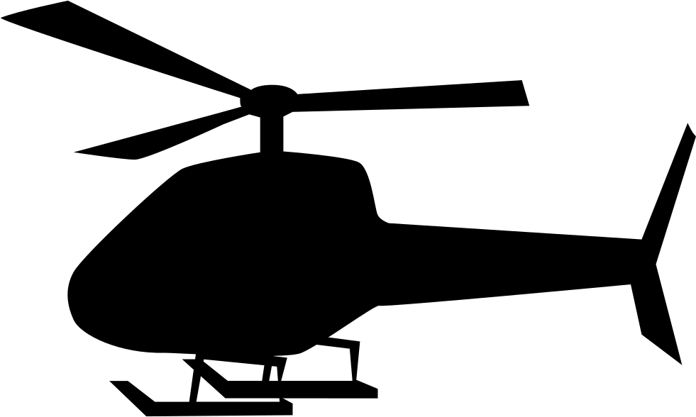 Helicopter clipart flying machine. Svg png icon free