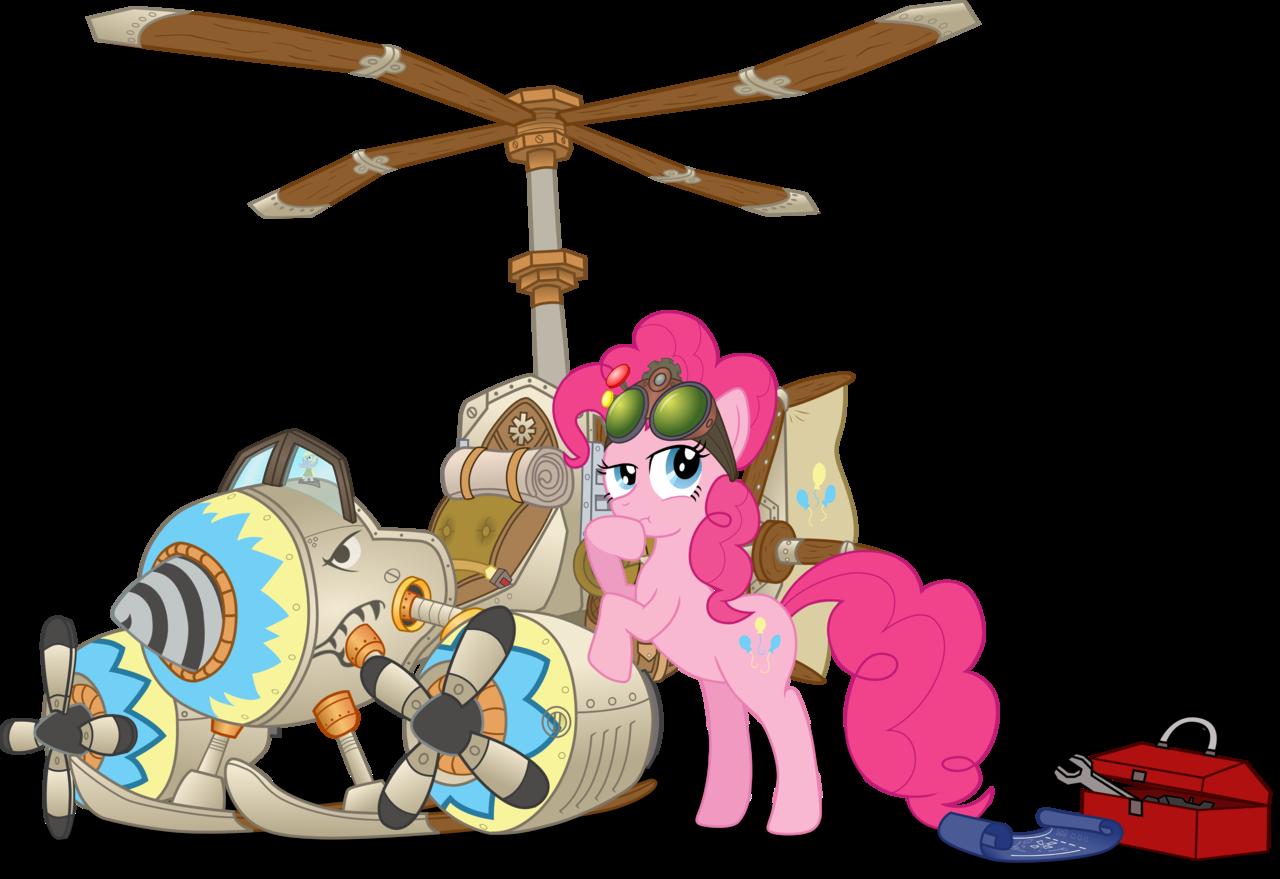 steampunk clipart flying machine #144309078