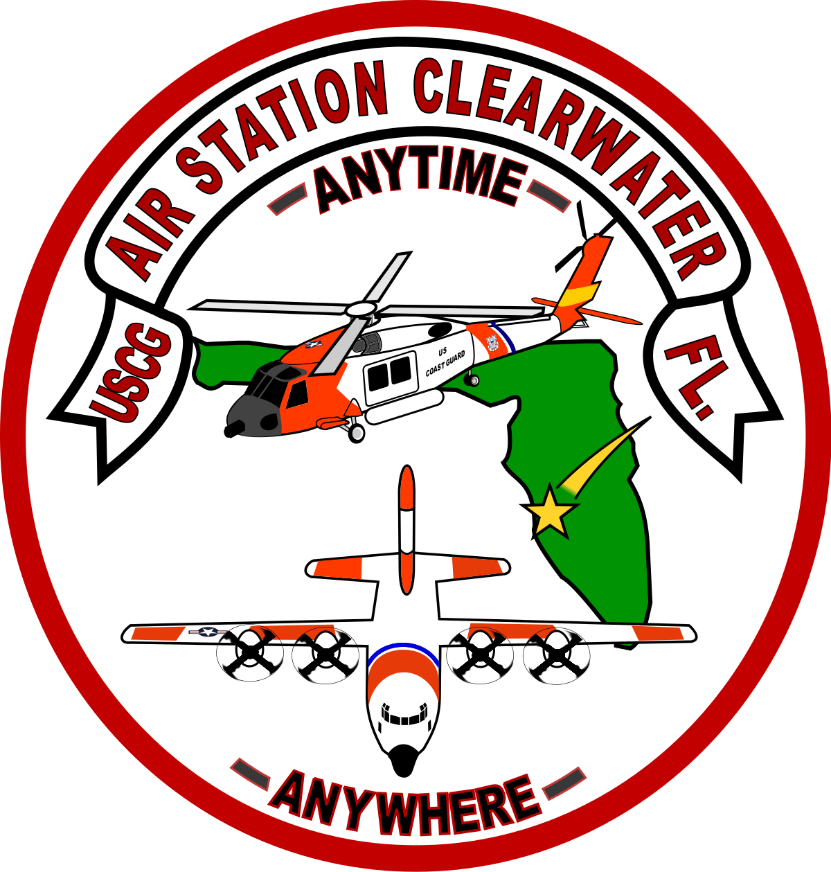 Coast guard air station. Helicopter clipart harold