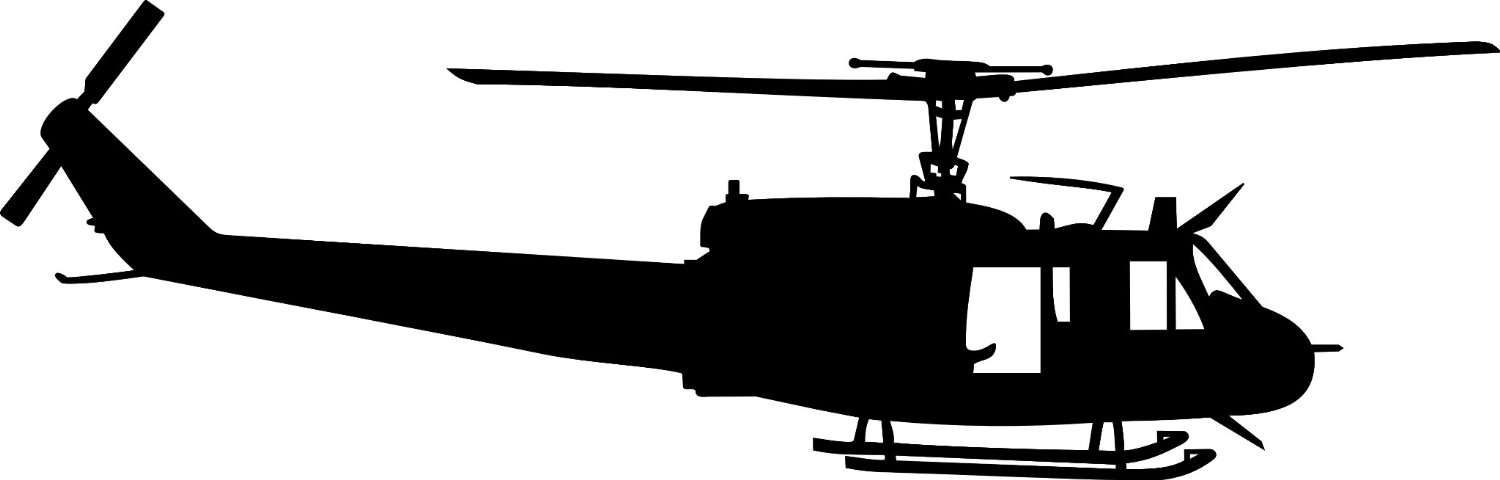 Helicopter clipart huey helicopter. Free silhouette download clip