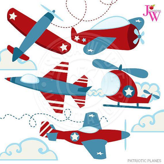 Patriotic planes cute digital. Helicopter clipart jet plane