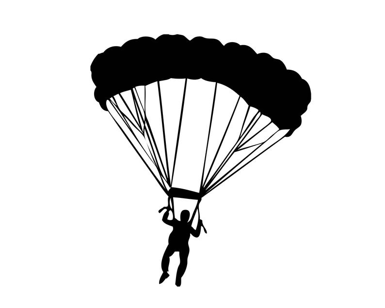 Helicopter clipart military parachute. Parachuter army navy marine