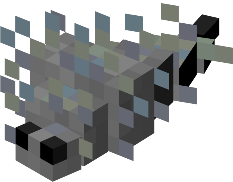 Silverfish in a mine. Helicopter clipart minecraft