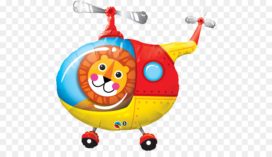 Balloon airplane . Helicopter clipart orange