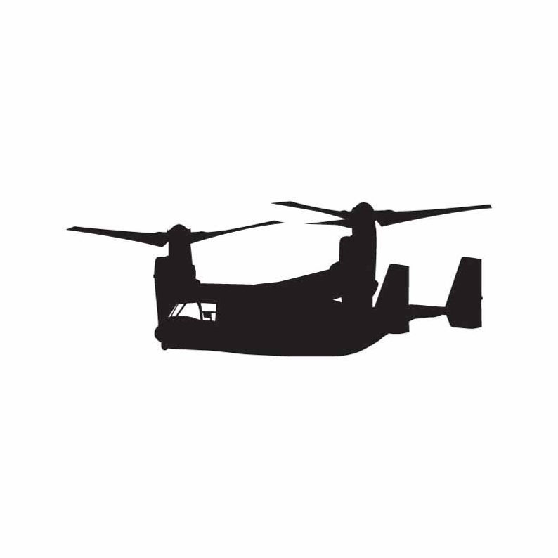 Plane graphic instant download. Helicopter clipart osprey