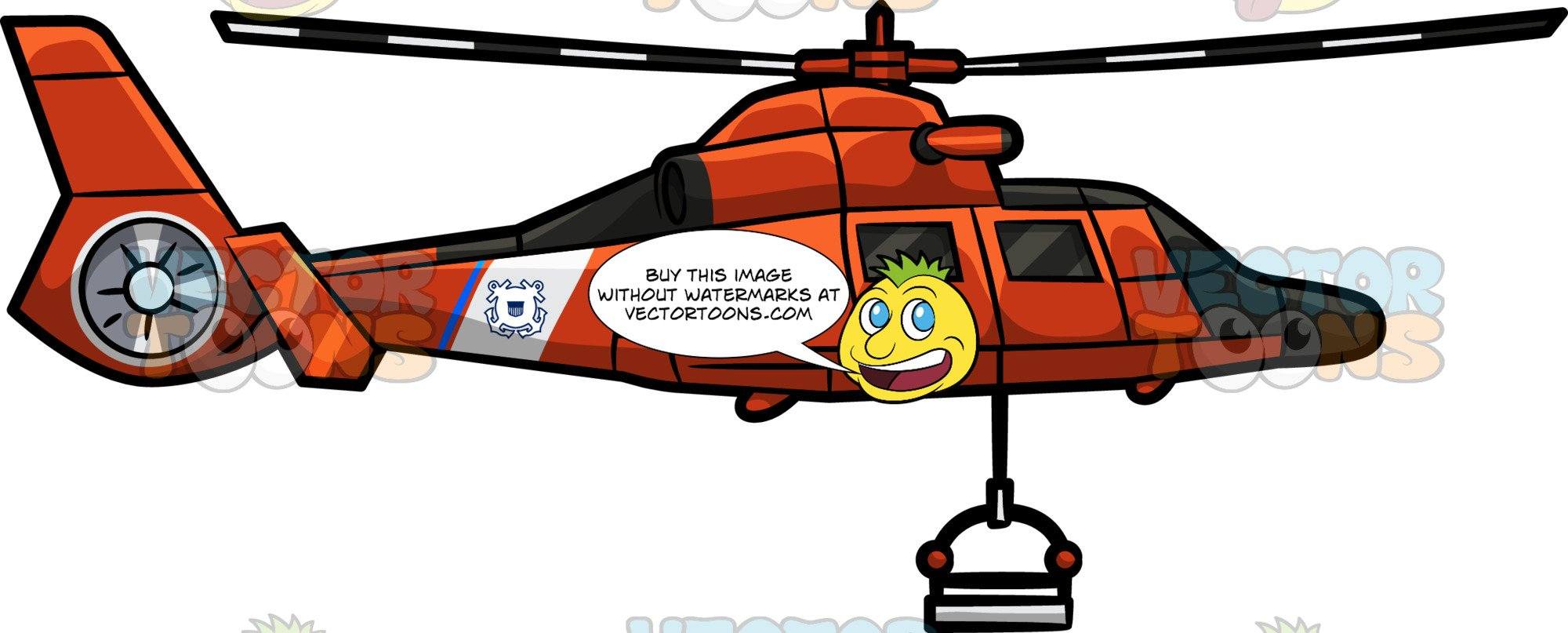 Helicopter clipart rescue helicopter. The uscgc