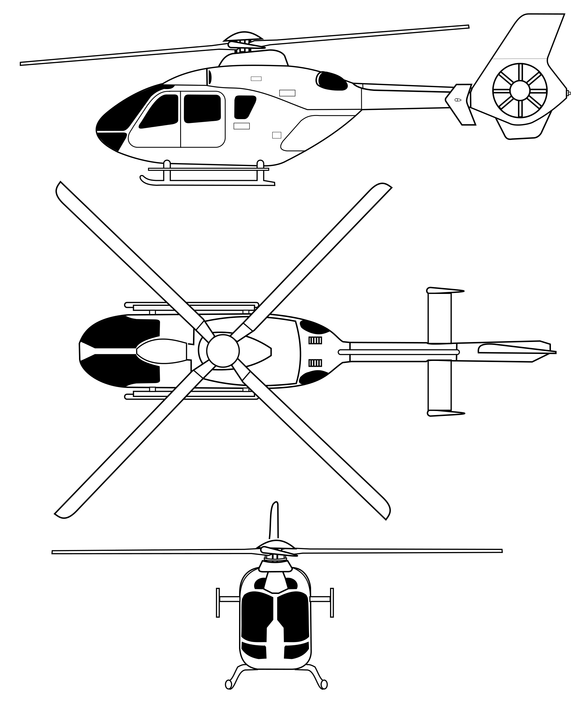Helicopter clipart svg. File ec orthographical image