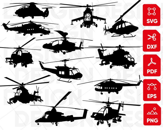 Helicopter clipart svg. Bundle airplane