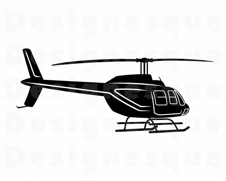 Files for cricut cut. Helicopter clipart svg