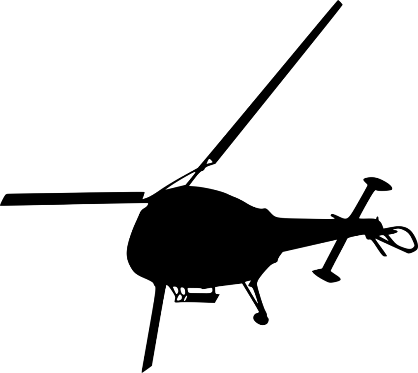 Silhouette png free images. Helicopter clipart top view