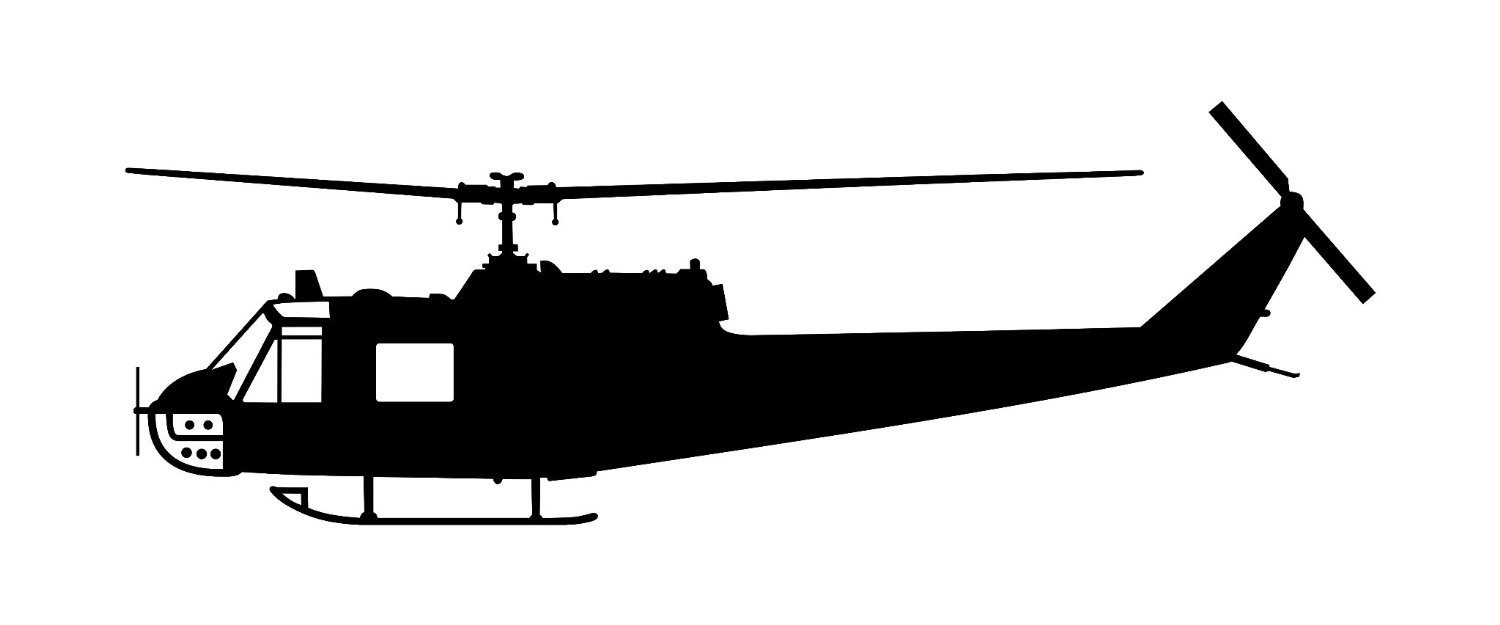 Helicopter clipart vintage. Military silhouette free download