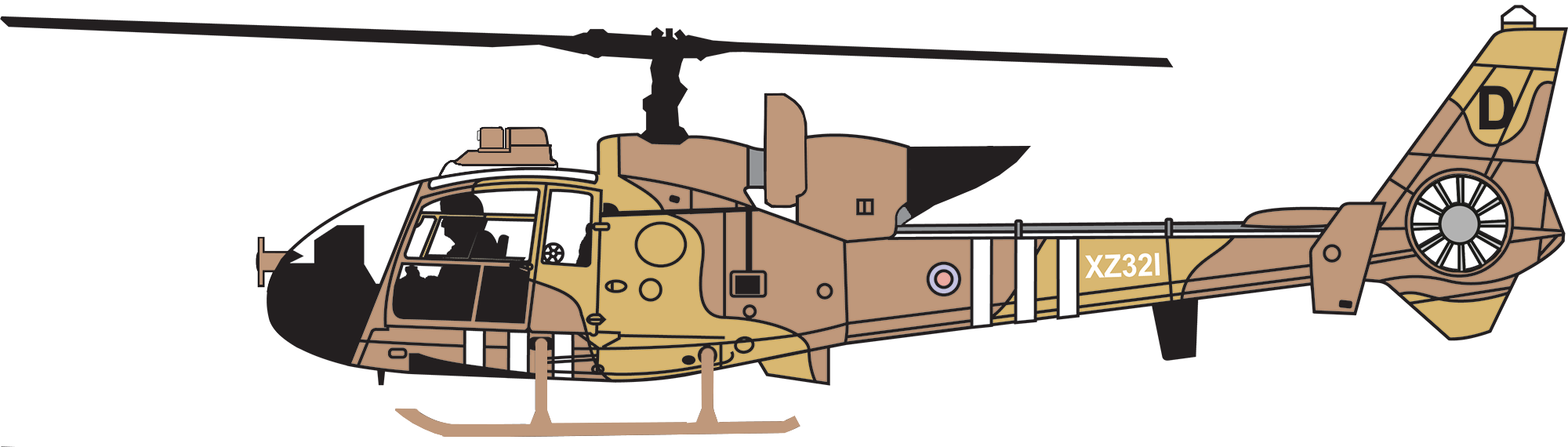 Xz westland gazelle ah. Helicopter clipart war helicopter