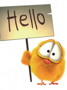Hello clipart. Chicken free images at
