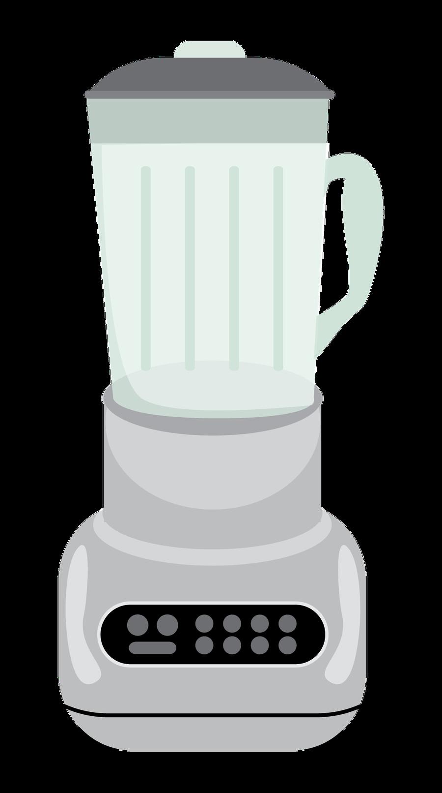 Kitchen clipart blender. Minus say hello silhouette
