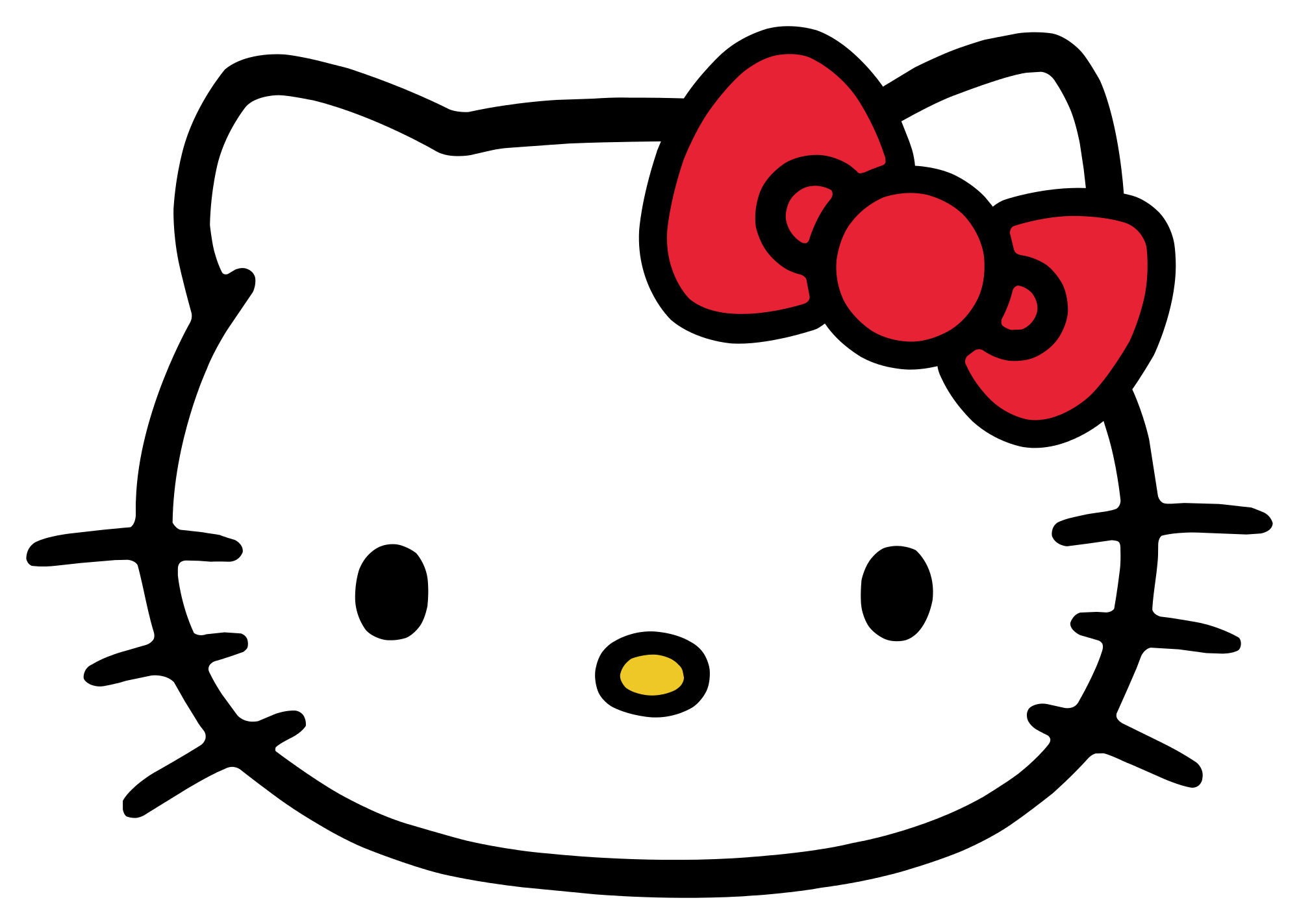 Kitty clipart row. Hello google search childhood