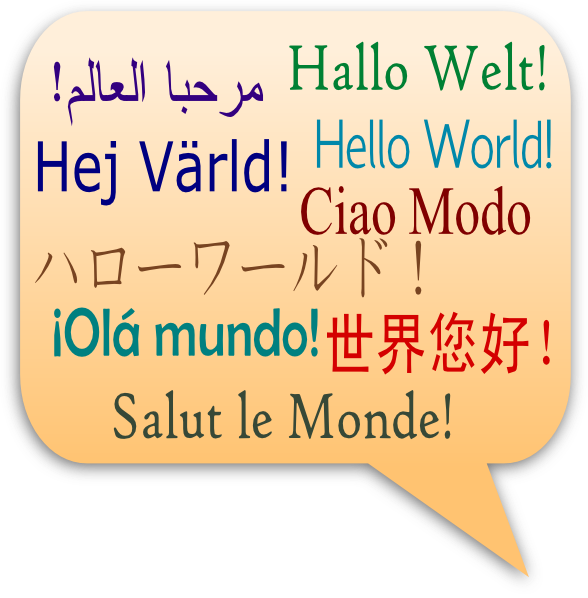 Languages clip art at. Hello clipart greetings