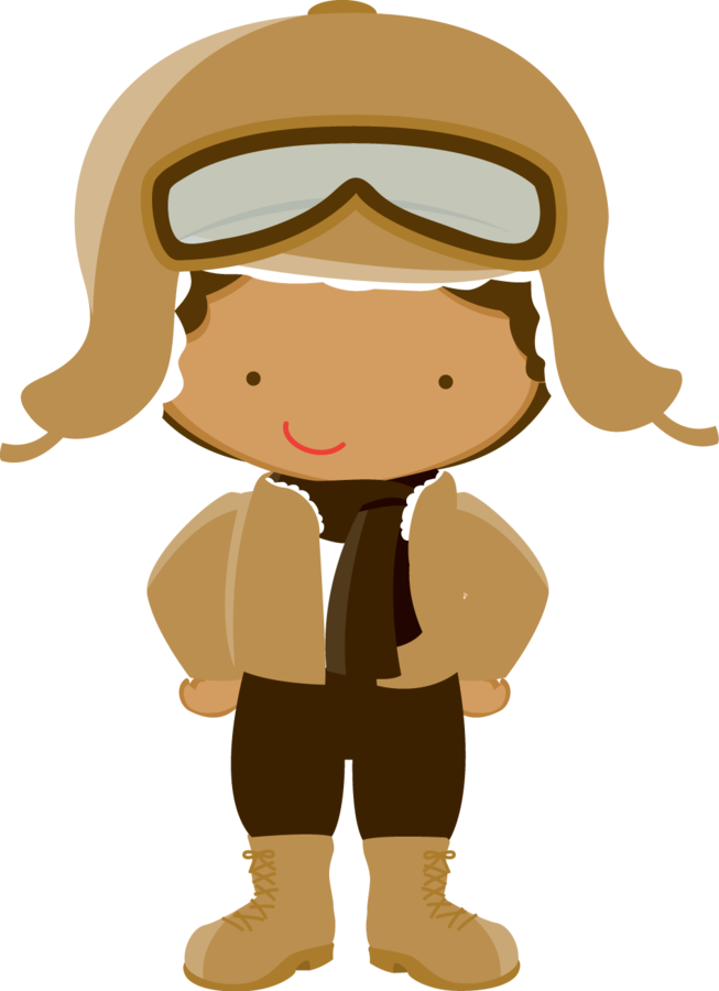 Kid clipart pilot. Minus say hello by