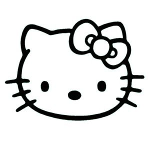 views cricut hello. Kitty clipart black and white