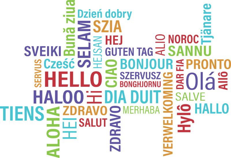 Why study languages beyond. Hello clipart multilingual