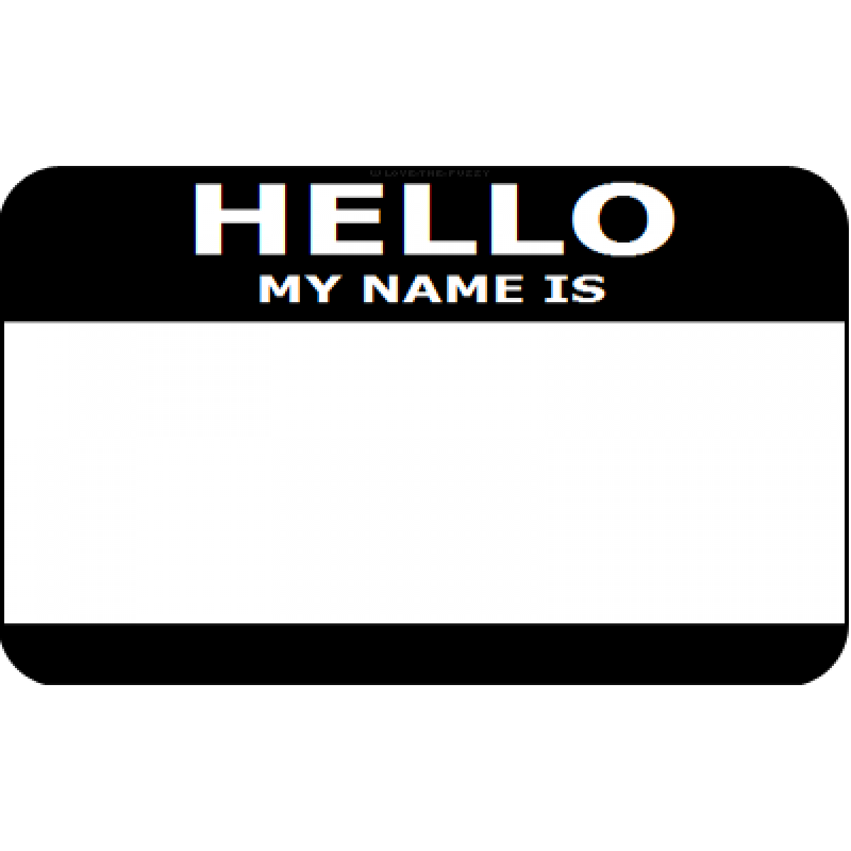 My is clip art. Hello clipart name badge
