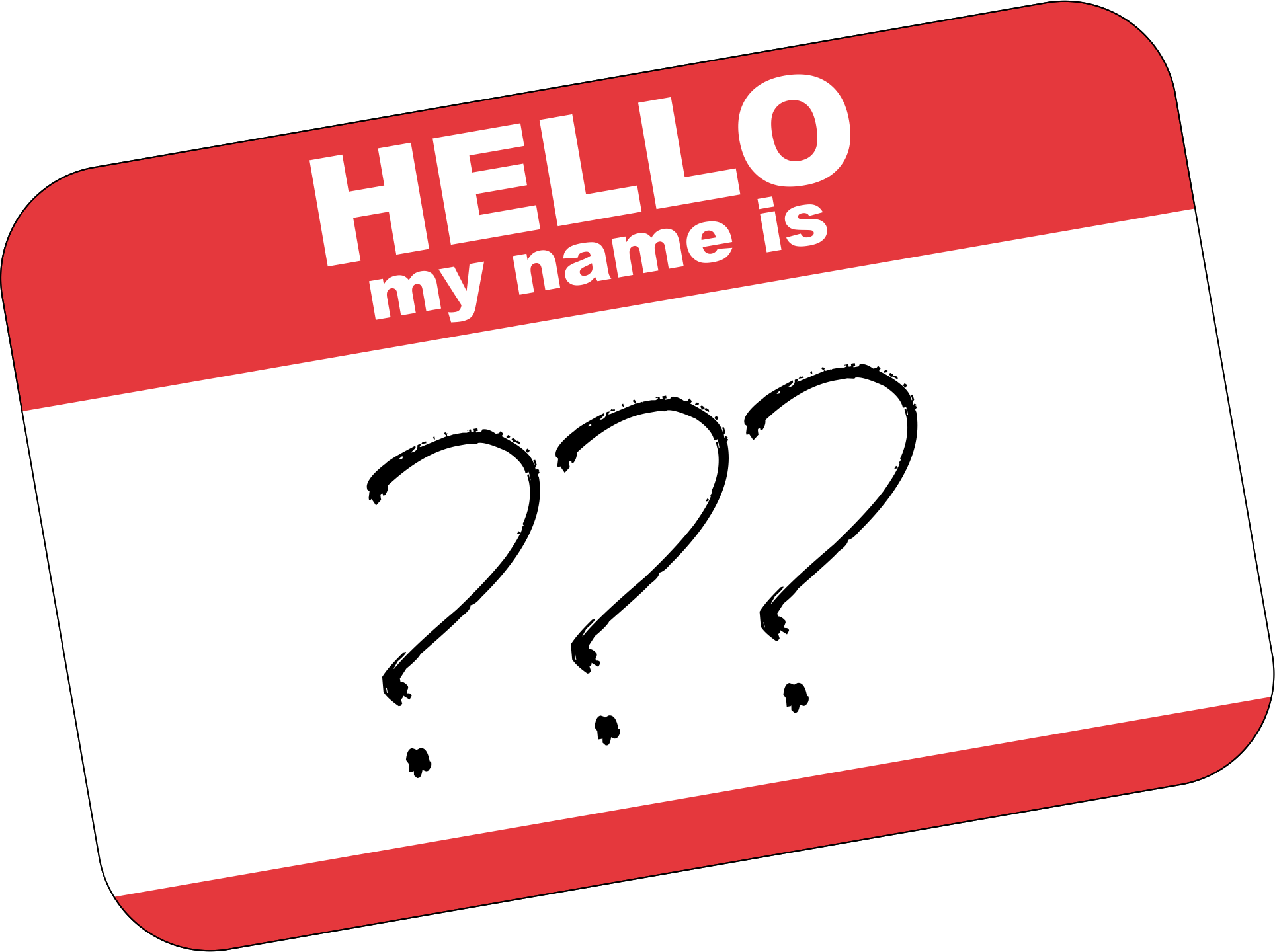 Name clipart name tag. Naming your clown character