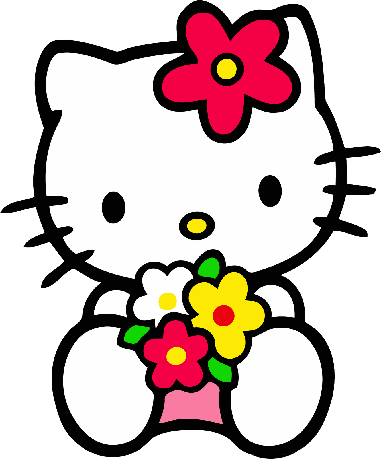 Hello clipart september. Pink kitty wallpaper and