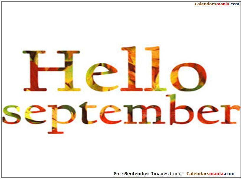 . Hello clipart september
