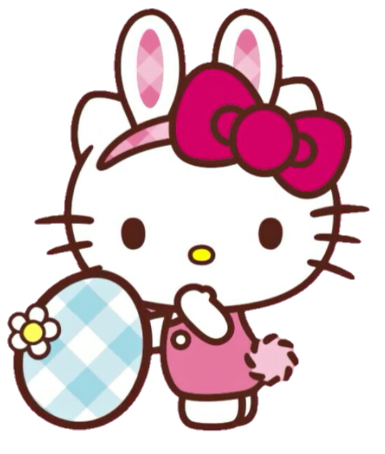 Kitty clipart easter. Hellokitty hello spring primavera
