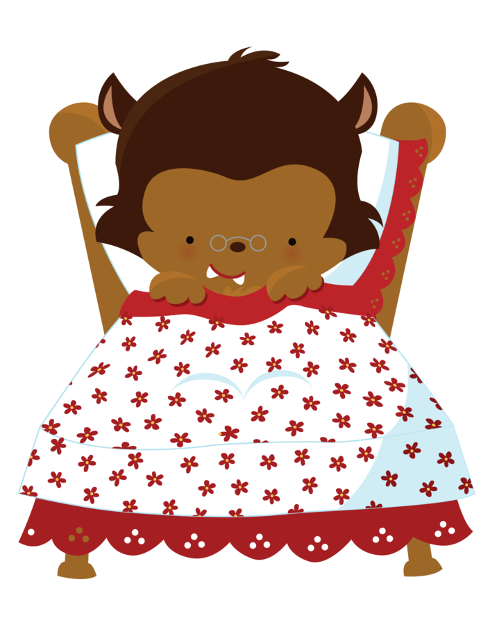 Wolf clipart red riding hood. Minus say hello i