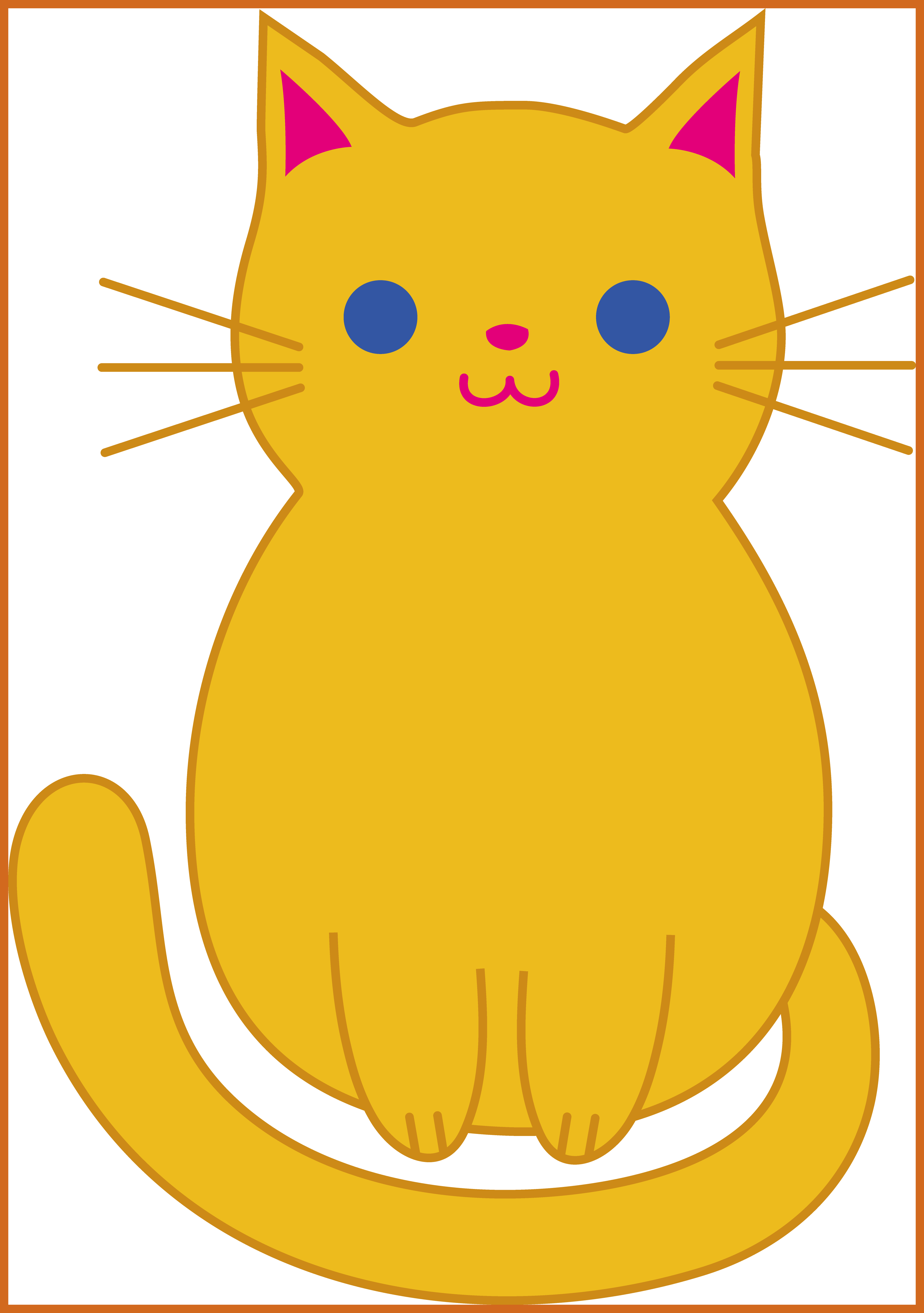 Cute cat wallpaper vector. Kitty clipart middle