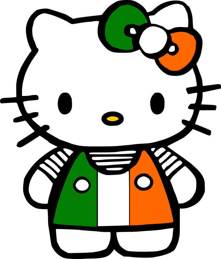 Crafting with meek hello. Kitty clipart st patrick's day